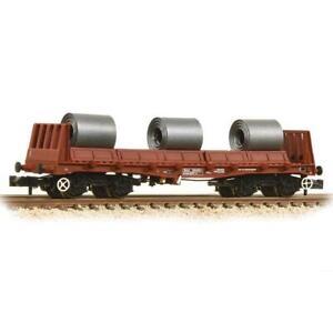 Graham-Farish-377-903-N-Gauge-BR-BAA-Steel-Carrier-Wagon