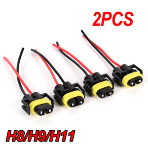 2Pcs-H11-H8-Headlight-Fog-Lamp-Female-Adapter-Harness-Sockets-Car-Cable-PlugKTP