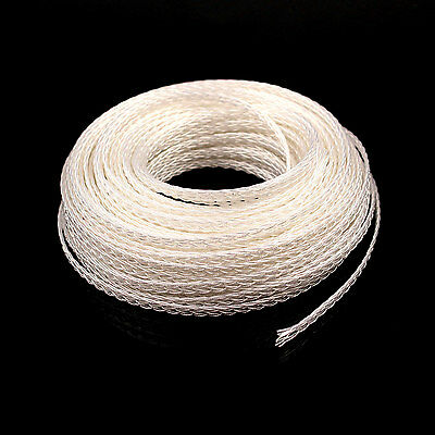 5m OCC PTFE silver plated wire cable for headphone headset upgrade HIFI DIY