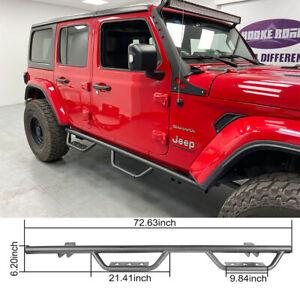 Hooke Road Running Board Side Step Nerf Bar Fit 18-20 Jeep Wrangler JL (4 Door)