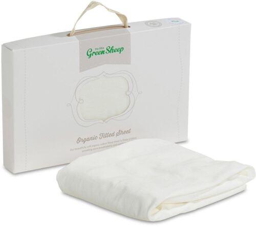El pequeño verde ovejas Orgánico Jersey Sábana bajera Cuna//Cuna//Moisés BN