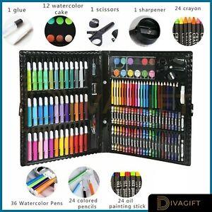 Kids Coloriage Set dessin jeu 50-208PCS art case crayons peinture enfant