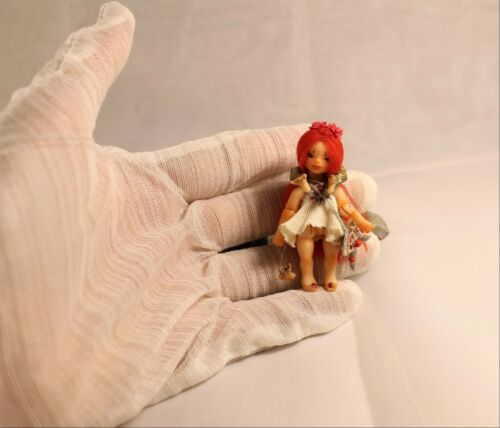 Künstler- & handgemachte Puppen Miniature 1:24 Little Foxberry OOAK BJD art doll by Julia Arts Puppen & Zubehör
