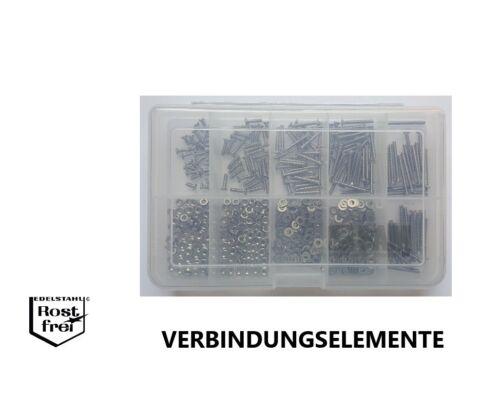 Linsensenkkopfschrauben Sortiment Schlitz DIN 964 M2,5 600 Teile EDELSTAHL A2