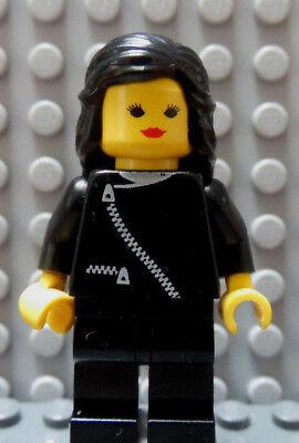 Süß GehäRtet Lego Klassisch Stadt Mädchen Weiblich Minifig Schwarze Jacke Mit Reißverschluss Baukästen & Konstruktion Lego Bau- & Konstruktionsspielzeug