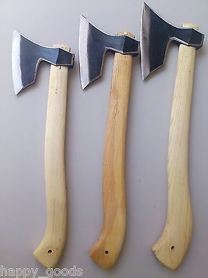 Handmade Viking Hatchet Axe Set of 3 pcs/ Camping Forest/ P24SML/ Wildlife Tools