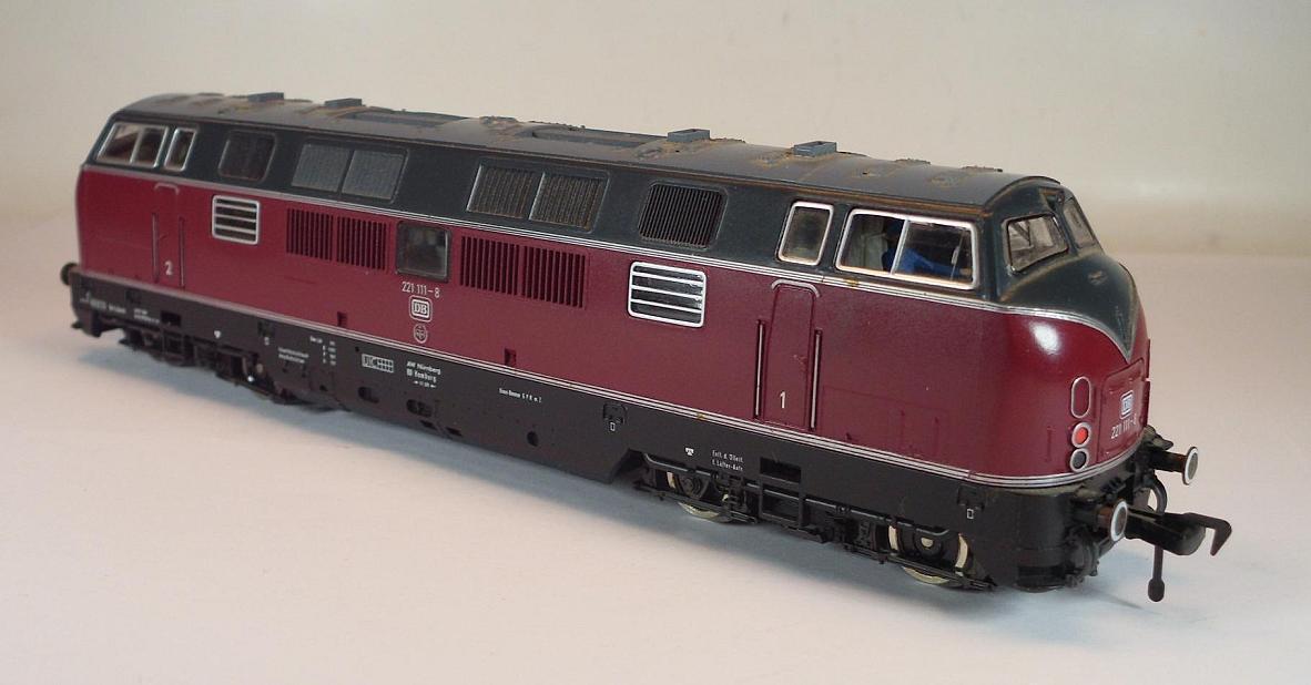 Fleischmann h0 4235 Diesellok BR 221 111-8 the German Railway Original Box
