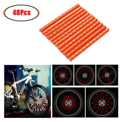 48Pcs Mountain Bike Accessories Wheel Rim Mount Warning Cilps for Safety