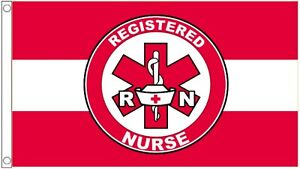 Registered Nurse First Aid And Health And Safety 5'x3' Flag