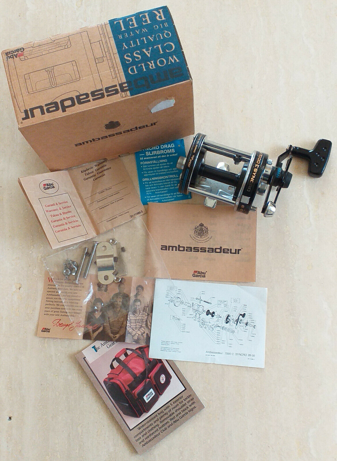 Abu Ambassadeur 7000 C Syncro with cardboard ABU Ambassadeur  7000 C with box  authentic