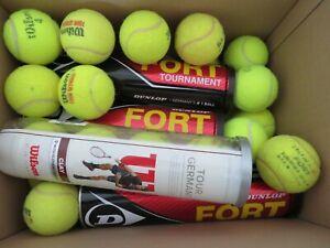 20-gebrauchte-Tennisbaelle-gebraucht-gespielt-verschiedene-Marken-Markenmix-TOP