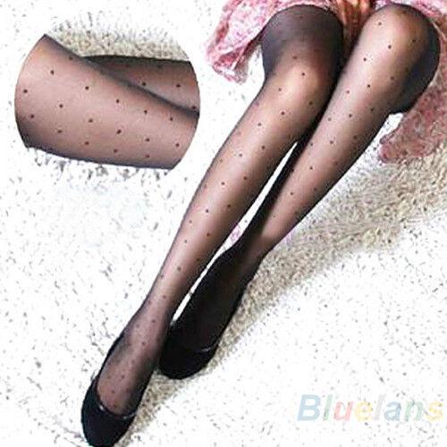 Womens New Arrival! Sheer Lace Small Dot Pantyhose Socks Stockings Tights B94U