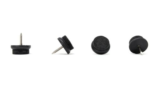 Nail-in Felt Furniture Pads Black-Premium Quality Stiffened Wool-MADE IN GERMANY