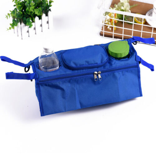 1X Baby trolley storage bag organizer stroller buggy pram cup holder bags HA TD