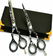 Blacksnow Hairdressing & Hair Thinning Scissors set 5.5""