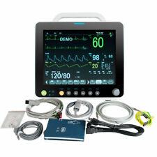 12 Inch Multi Parameter Patient Monitor Ecg Nibp Resp Temp Spo2 Pr Storage Hot