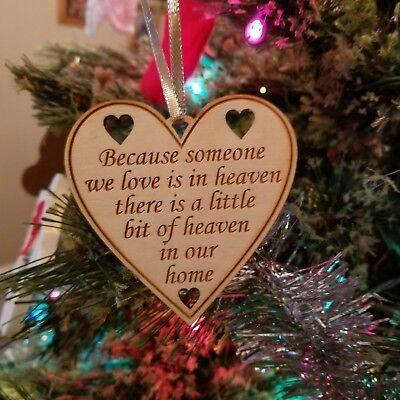 Heaven Wood Ornament Heart Shape