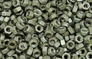 (250) Heavy Hex Nuts 3/8-16 Hot Dipped Galvanized Coarse Thread A563