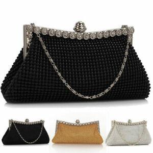 Womens Antique Handmade Beaded Sequined Evening Bag Wedding Party Handbag Clutch Purse