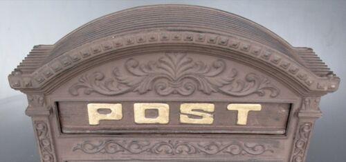 Briefkasten Wand Alu braun historischer Bogen Letterbox Vintage für Haus Hof