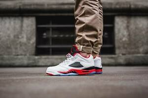 newest ff708 44c6b ... reduced image is loading nike air jordan 5 retro low fire red 08a76  36769