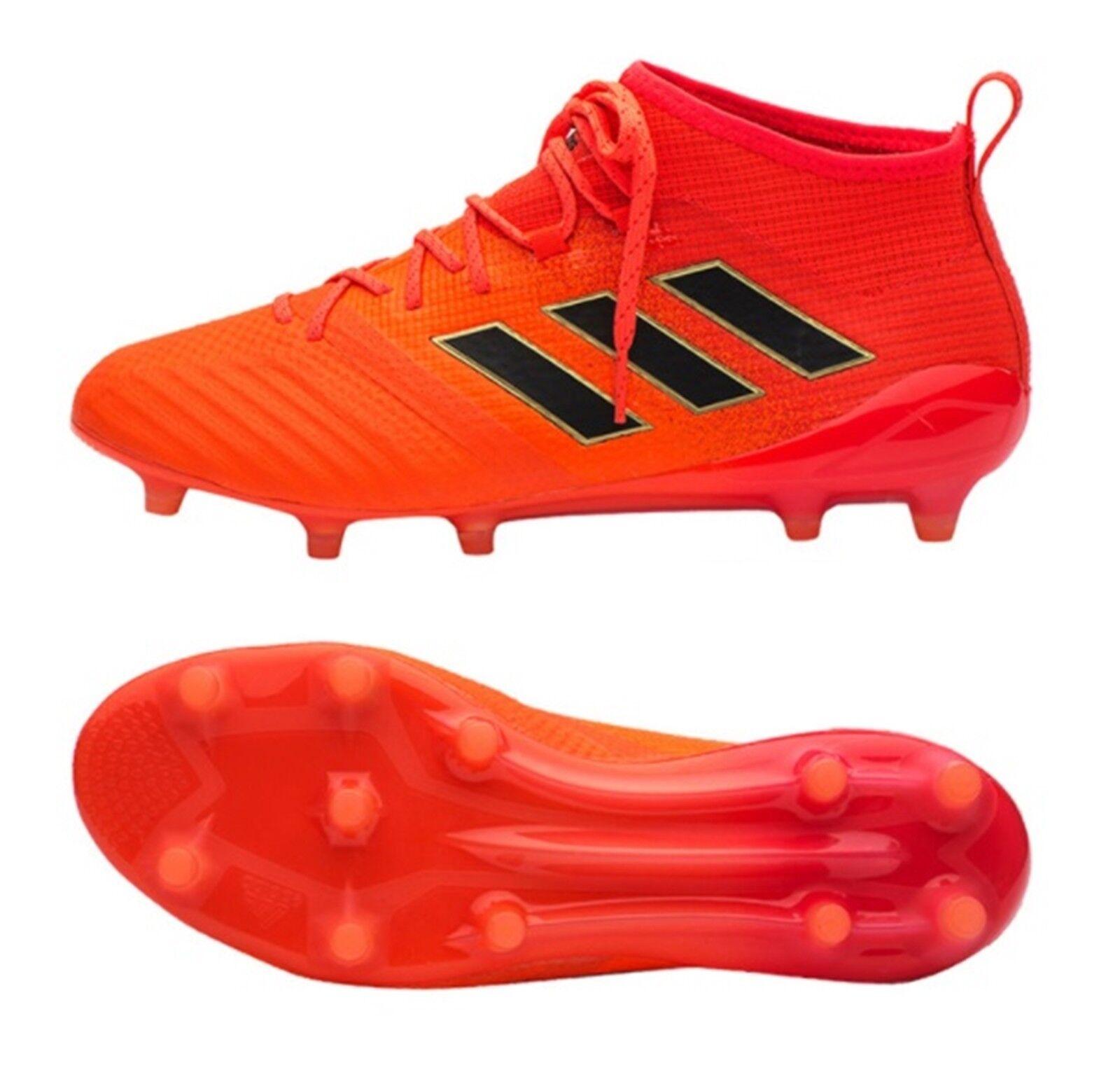 Adidas Hombres Ace 17.1 FG Botines Zapatos De Futsal Fútbol Fútbol Rojo Gimnasio Spike S77036