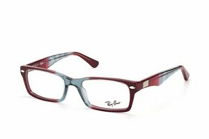 233ad7f9f6418 Ray Ban Eyeglasses RB5206 5517 Gray Red Bordeaux Rectangular 52mm