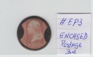 US Encased Postage stamp scott 65 # EP3 mint $700