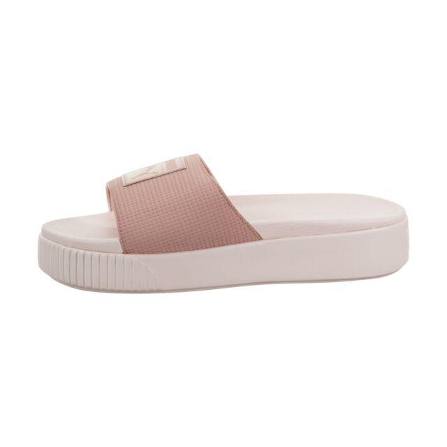 Puma Platform Slides Peach Beige Pearl Sneaker damen