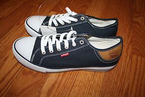NEW Mens Levis STAN BUCK Navy Blue White Sneaker Shoes Size 10 - Blue