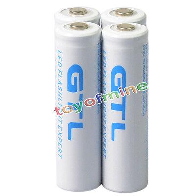 4 x 18650 10000mAh 3.7v GTL li-ion White Rechargeable Battery for LED Flashlight