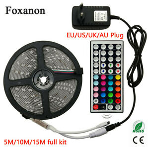 LED-Strip-Light-RGB-5050-SMD-2835-Flexible-Lamp-RGB-Stripe-5M-10M-15M-Full-kit