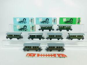 BP657-1-8x-Maerklin-H0-AC-4000-Blech-Personenwagen-2-Klasse-Bi-4x-OVP