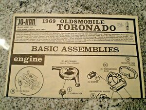 JO-HAN-034-1969-Oldmobile-Toronado-034-Original-Model-Car-Instruction-sheet