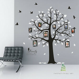 Wall-Stickers-Family-Tree-Photo-Frame-Quotes-Art-Murals-Decals-Vinyl-Decor-P538