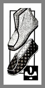 ef184b7c8f11d Details about Vintage Mail Order Boot Loafer Slippers Fabric Material  sewing pattern #7270