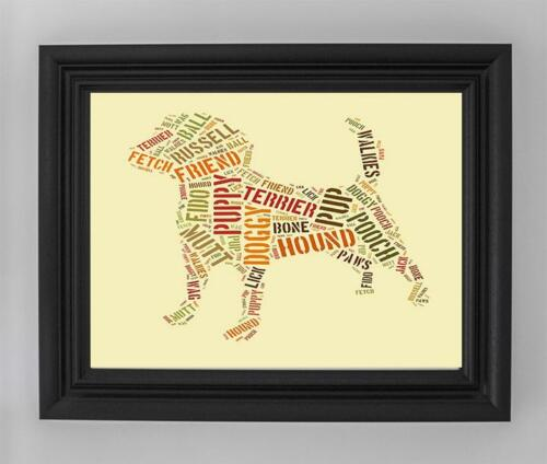 Jack Russell Terrier Dog Mans Best Friend Typography Art Poster Print A4 A3 OMG2