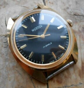 Men's vintage soviet mechanical gold-plated watch Vostok cal. 2409A, USSR, 1980s