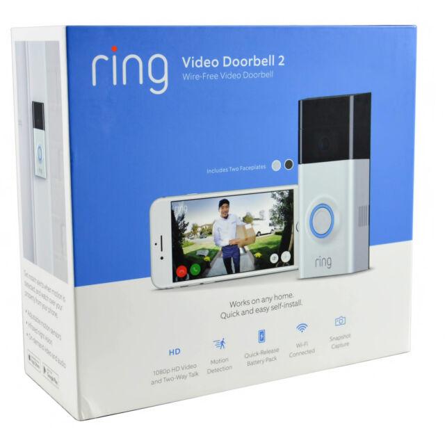 Genuino Ring Interfono Wifi Seguridad 1080P Vídeo HD Ios Smart Cámara Timbre 2