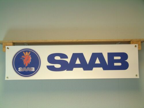 Saab Banner Car Workshop Vehicle Garage pvc sign 900 turbo Aero 9000