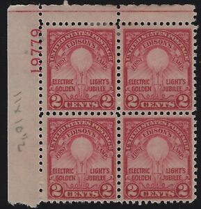 US-Stamps-Scott-655-Plate-Block-2-MNH-amp-2-MH-D-040