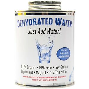 Dehydrated Water 16Oz Empty Can Funny Gag Gift or Joke Prank by Witty Yeti