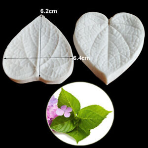 Hydrangea leaves Silicone Mold Surgar Clay Flower Petal Cake Decorating Tool