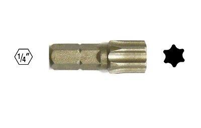 Torx-Schraubendreher-Bitsatz S2 Stahl 1//4 Zoll Sechskantschaft Sternkopfbo E9C5