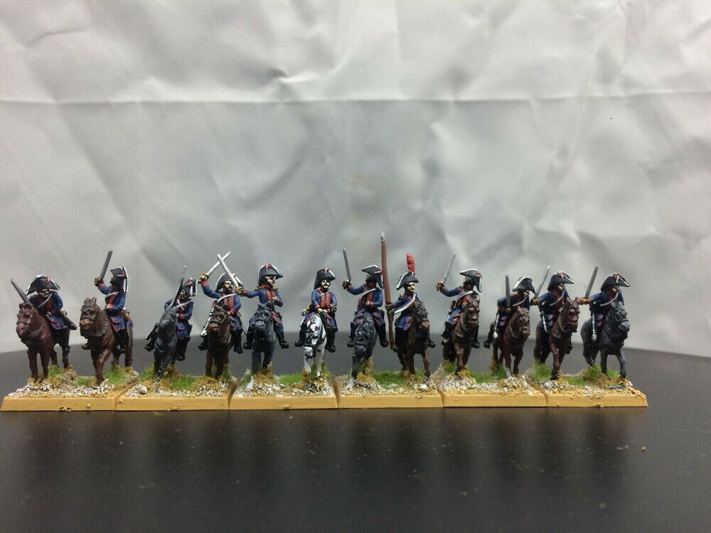 15mm Napoleonic painted Spanish Cavalry bluee Sp05