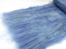 Carded Batt Merino & Silk Sky Blue 100g Fine Merino Wool Spinning Felting Batts