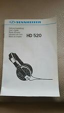 SENNHEISER HD 520 MANUAL DE INSTRUCCIONES