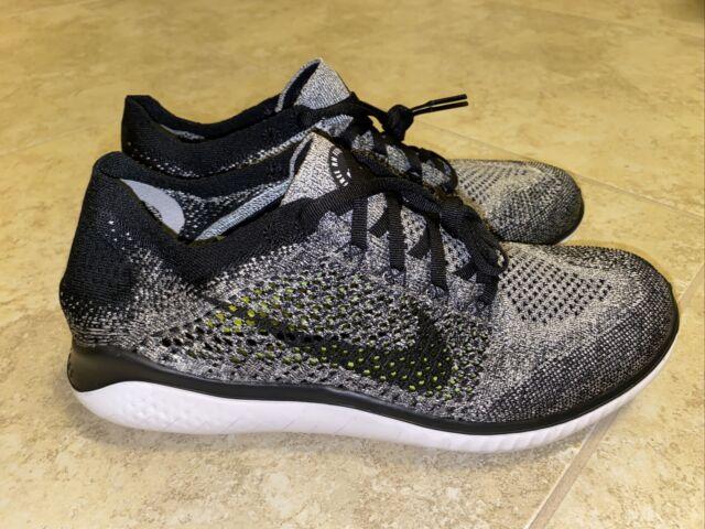 Nike RN Flyknit 2018 Grey White Black