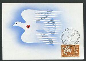 NIEDERLANDE-MK-1961-EUROPA-CEPT-TAUBE-DOVE-MAXIMUMKARTE-MAXIMUM-CARD-MC-CM-d3431
