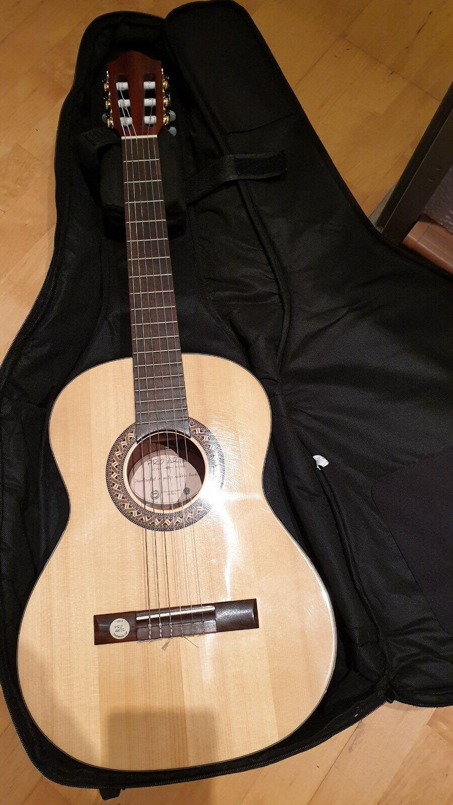 Gitarre, pro arte GC 75 II 3 4 - mit Tasche